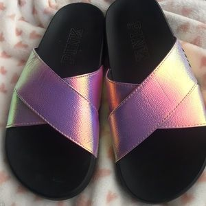 PINK pink holographic slides. Not used‼️‼️‼️‼️